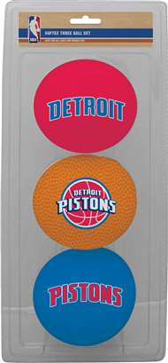 Detroit Pistons NBA 3-Ball Soft Basketball Set