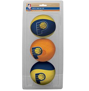 NBA Indiana Pacers Three Point Shot Softee Basketball 3-Ball Set