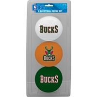 Milwaukee Bucks NBA 3-Ball Soft Basketball Set