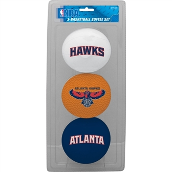Atlanta Hawks NBA 3-Ball Soft Basketball Set