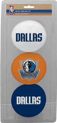 Dallas Mavericks 3 Point Shot Softee Basketball Set