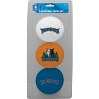 Minnesota Timberwolves NBA 3-Ball Soft Basketball Set