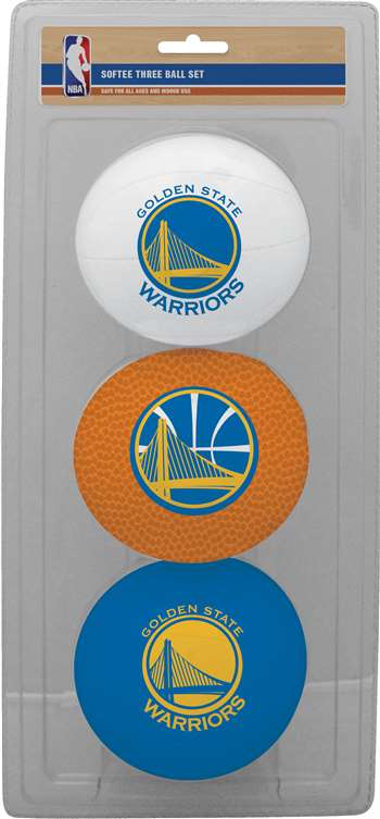 NBA Golden State Warriors Three Point Shot Softee Basketball 3-Ball Set