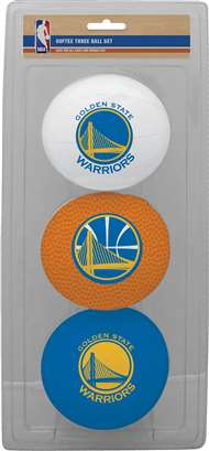 Golden State Warriors 3 Point Shot Softee Basketball Set