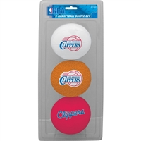 Los Angeles Clippers 3 Point Shot Softee Basketball Set