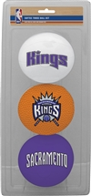 Sacramento Kings 3 Point Shot Softee Basketball Set