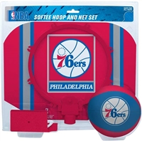 Philadelphia 76ers  NBA Indoor Softee Basketball Hoop Slam Dunk Set