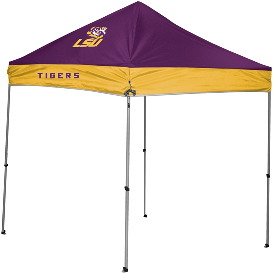 Louisiana State University LSU Tigers 9x9 Straight Leg Canopy with Carry Bag - Rawlings