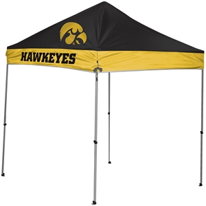 University of Iowa Hawkeyes 9x9 Straight Leg Canopy with Carry Bag - Rawlings