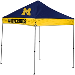 University of Michigan Wolverines 9x9 Straight Leg Canopy with Carry Bag - Rawlings