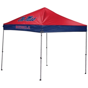 University of Mississippi Rebels 9 X 9 Straight Leg Canopy Tailgate Tent
