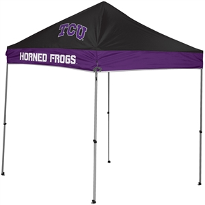 Texas Christian University TCU Horned Frogs 9x9 Straight Leg Canopy with Carry Bag - Rawlings