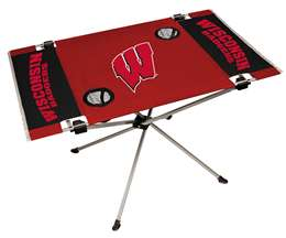 University of Wisconsin Badgers Endzone Folding Table - Tailgate Camping