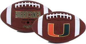 University of Miami Hurricanes Rawlings Game Time Full Size Football Team Logo