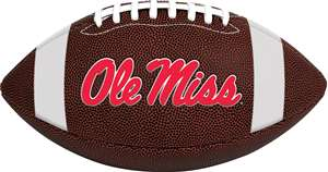University of Mississippi Rebels Rawlings Game Time Full Size Football Team Logo