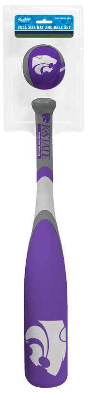 Kansas State University Wildcats Grand Slam Softee Baseball Bat and Ball Set