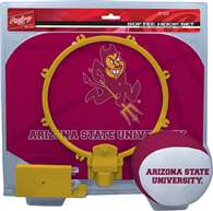 Arizona State University Slam Dunk Indoor Basketball Hoop Set Over The Door