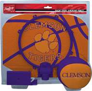 Clemson University Tigers Slam Dunk Indoor Basketball Hoop Set Over The Door