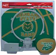 Colorado State University Rams Slam Dunk Indoor Basketball Hoop Set Over The Door