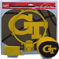Georgia Tech Yellow Jackets Slam Dunk Indoor Basketball Hoop Set Over The Door