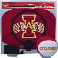 Iowa State University Cyclones Slam Dunk Indoor Basketball Hoop Set Over The Door
