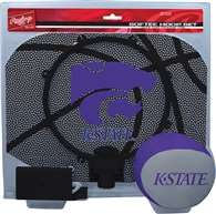 Kansas State University Wildcats Slam Dunk Indoor Basketball Hoop Set Over The Door