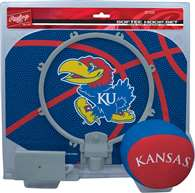 University of Kansas Jayhawks Slam Dunk Indoor Basketball Hoop Set Over The Door