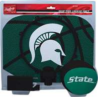 Michigan State University Spartans Slam Dunk Indoor Basketball Hoop Set Over The Door