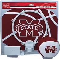 Mississippi State University Bulldogs Slam Dunk Indoor Basketball Hoop Set Over The Door
