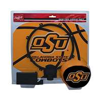 Oklahoma State University Cowboys Slam Dunk Indoor Basketball Hoop Set Over The Door