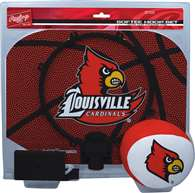 University of Louisville Cardinals Slam Dunk Indoor Basketball Hoop Set Over The Door