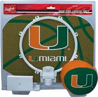 University of Miami Hurricanes Slam Dunk Indoor Basketball Hoop Set Over The Door