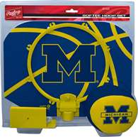 University of Michigan Wolverines Slam Dunk Indoor Basketball Hoop Set Over The Door