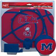 University of Mississippi Ole Miss Rebels Slam Dunk Indoor Basketball Hoop Set Over The Door