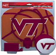 Virginia Tech Hokies Slam Dunk Indoor Basketball Hoop Set Over The Door