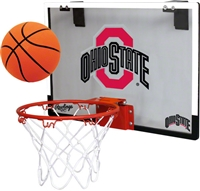 Ohio State University Buckeyes Indoor Basketball Goal Hoop Set Game