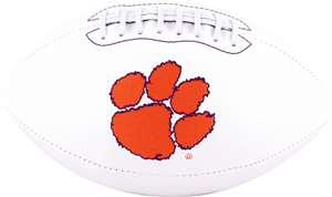 Clemson University Tigers Signature Series Autograph Full Size Rawlings Football