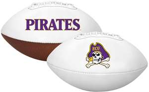 East Carolina University Pirates Signature Series Autograph Full Size Rawlings Football