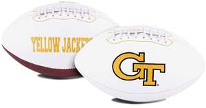 Georgia Tech Yellow Jackets Signature Series Autograph Full Size Rawlings Football