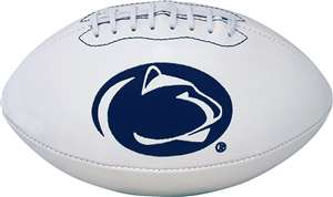 Penn State University  Nittany Lions Signature Series Autograph Full Size Rawlings Football