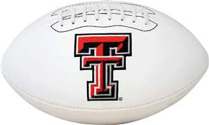 Texas Tech Red Raiders Signature Series Autograph Full Size Rawlings Football