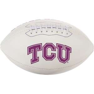 TCU Texas Christian University Horned Frogs Signature Series Autograph Full Size Rawlings Football