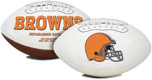 Cleveland Browns  Signature Series Full Size Football Autograph
