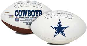 Dallas Cowboys  Signature Series Full Size Football Autograph