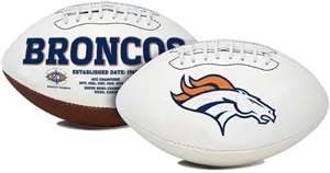 Denver Broncos  Signature Series Full Size Football Autograph