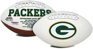 Green Bay Packers  Signature Series Full Size Football Autograph