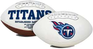 Tennessee Titans  Signature Series Full Size Football Autograph