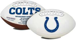 Indianapolis Colts  Signature Series Full Size Football Autograph