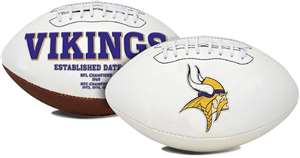 Minnesota Vikings  Signature Series Full Size Football Autograph