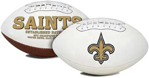 New Orleans Saints  Signature Series Full Size Football Autograph